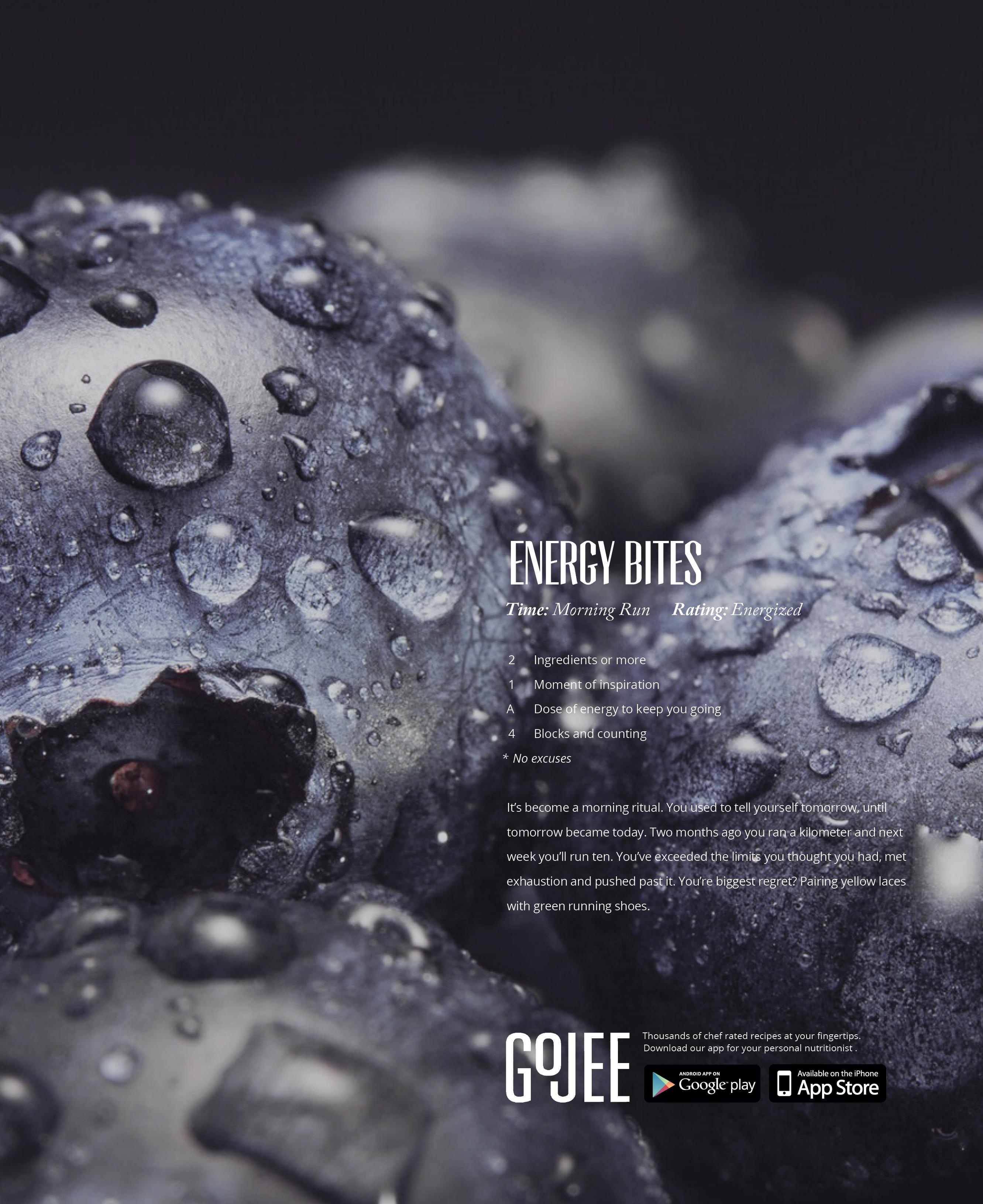 Gojee Magazine Ad, Additional Persona - Energy