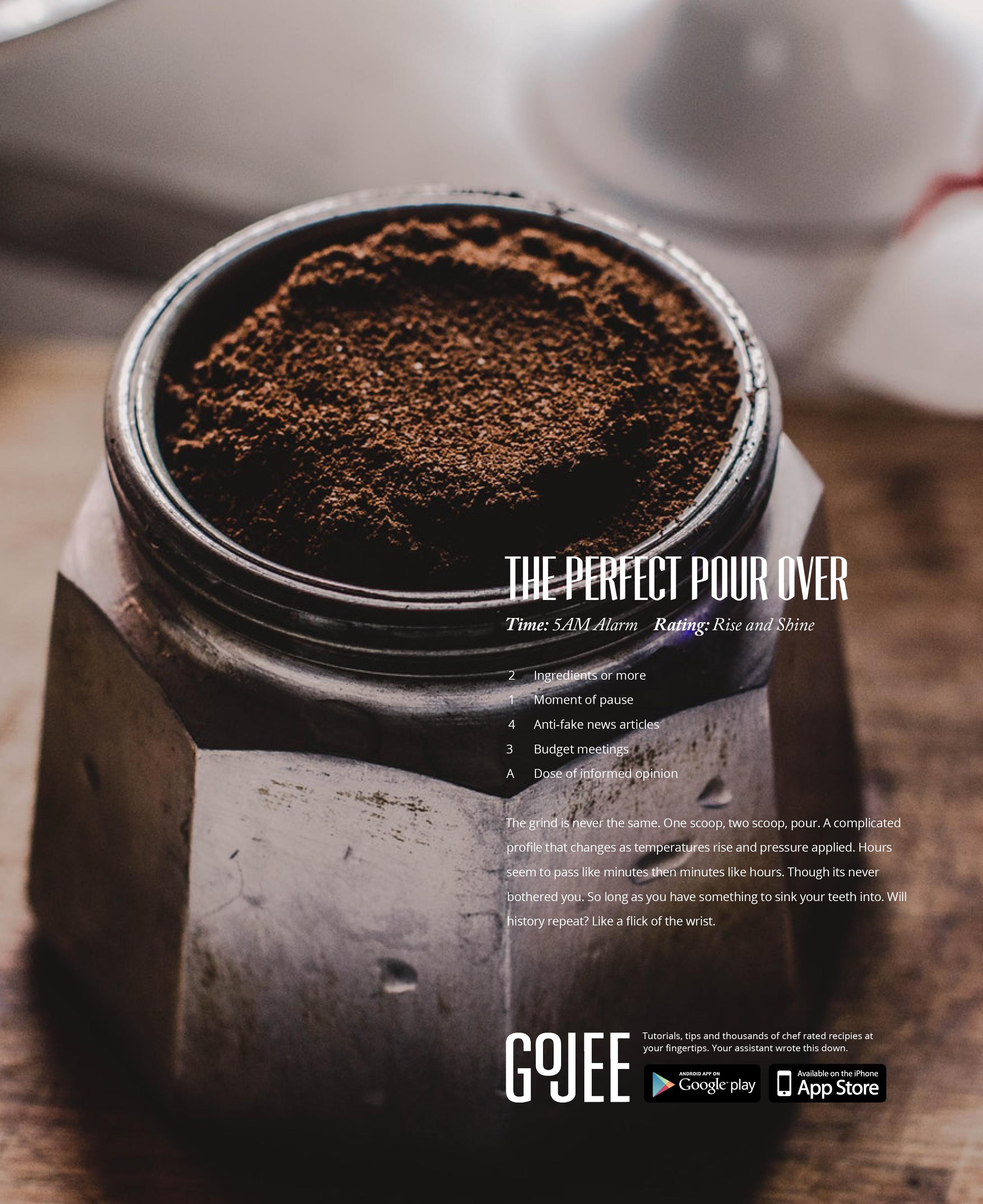 Gojee Magazine Ad, Additional Persona - Coffee