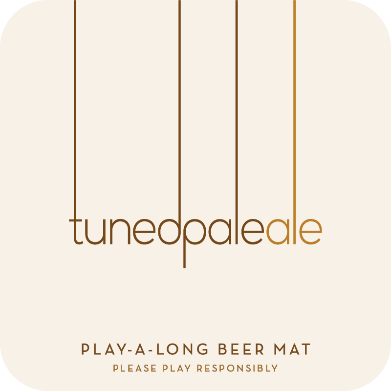 Tuned Pale Ale Beer Mat, Front